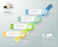 Business concept infographic template can be used for workflow layout, diagram. Royalty Free Stock Photos