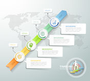 Business concept infographic template Stock Image