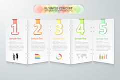 Business concept infographics. Vector illustration. Royalty Free Stock Photos