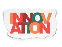 Business concept: Innovation on Torn Paper. Business concept: Painted multicolor text Innovation on Torn Paper background, 3d render Stock Photography