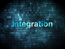 Business concept: integration on digital Stock Photo