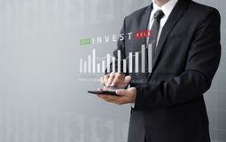 Business concept, invest buy or sell asset online Royalty Free Stock Images