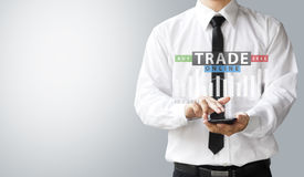 Business concept, invest trading buy or sell asset online Stock Photo