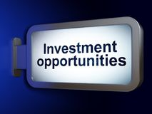 Business concept: Investment Opportunities on billboard background Royalty Free Stock Photo