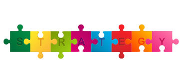 Business concept jigsaw puzzle Royalty Free Stock Photography