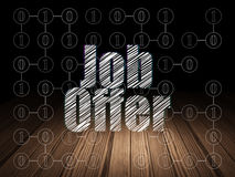 Business concept: Job Offer in grunge dark room Stock Photos