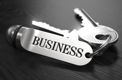 Business Concept. Keys with Keyring Royalty Free Stock Images