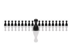 Business concept leader step forward group small black Stock Photo