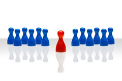Business concept leadership forward red blue gradient Stock Images