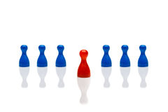 Business concept leadership step forward red blue Royalty Free Stock Photo