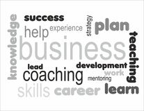 Business concept learning. Learning training coaching business concept words Stock Image