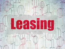 Business concept: Leasing on Digital Data Paper background Stock Photo