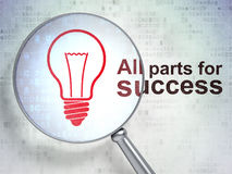 Business concept: Light Bulb and All parts for Stock Images