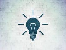 Business concept: Light Bulb on Digital Paper Stock Photo