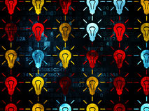 Business concept: Light Bulb icons on Digital Stock Images