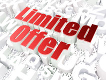 Business concept: Limited Offer on alphabet. Background, 3d render Stock Photo