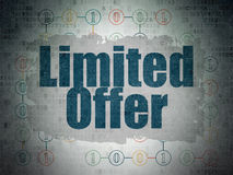 Business concept: Limited Offer on Digital Paper Stock Photos