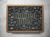 Business concept: Limited Offer on School Board Royalty Free Stock Images