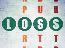 Business concept: Loss in Crossword Puzzle royalty free stock images