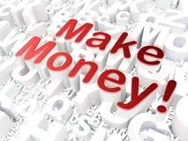 Business concept: Make Money! on alphabet. Background, 3d render Stock Photos
