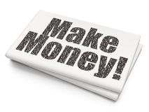 Business concept: Make Money! on Blank Newspaper background. Business concept: Pixelated black text Make Money! on Blank Newspaper background, 3D rendering Stock Images
