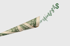 Business concept for making money. Money talks Stock Image