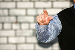 Business concept. A man pointing Royalty Free Stock Images