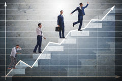 The business concept with man progressing through stages Stock Photo