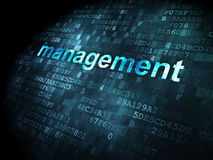 Business concept: Management on digital background. Business concept: pixelated words Management on digital background, 3d render Royalty Free Stock Photography