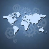 Business concept with map of the world royalty free stock photography