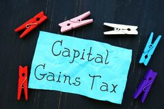 Business concept meaning Capital Gains Tax with inscription on the page