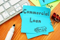 Business concept meaning Commercial Loan with inscription on the piece of paper