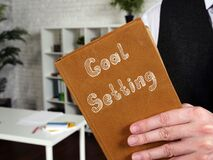 Business concept meaning Goal Setting with inscription on the page