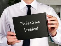 Business concept meaning Pedestrian Accident with phrase on the sheet