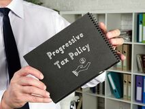 Business concept meaning Progressive Tax Policy with phrase on the sheet