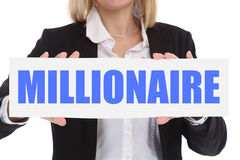 Business concept millionaire rich wealth businesswoman success s Stock Photography