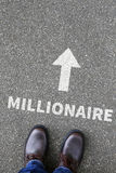 Business concept millionaire rich wealth success successful Royalty Free Stock Photography