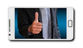Business concept on mobile phones Royalty Free Stock Images