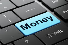 Business concept: Money on computer keyboard Royalty Free Stock Photography