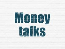Business concept: Money Talks on wall background Stock Photos