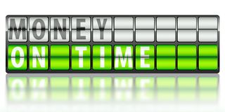 Business concept of money, on time Stock Images