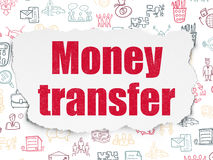 Business concept: Money Transfer on Torn Paper Stock Image