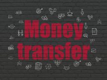 Business concept: Money Transfer on wall Stock Images