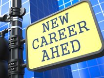 Business Concept. New Career Ahead Roadsign. Royalty Free Stock Images
