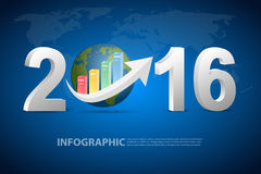 Business concept of new year 2016. Vector eps10 Royalty Free Stock Photo