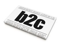 Business concept: newspaper headline B2c. On White background, 3D rendering Stock Photo