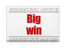 Business concept: newspaper headline Big Win. On White background, 3D rendering Stock Photo