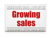 Business concept: newspaper headline Growing Sales Royalty Free Stock Photos