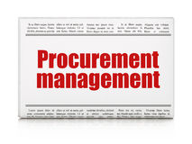 Business concept: newspaper headline Procurement Royalty Free Stock Photos