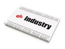 Business concept: newspaper with Industry and Gears Royalty Free Stock Photo